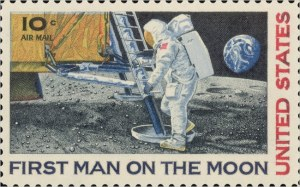 calle 10 moonlanding stamp2 - Letter from the Moon – how Neil Armstrong posted a letter from the Moon