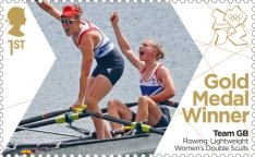 Women's Double Skulls Gold Medal Winner Stamp