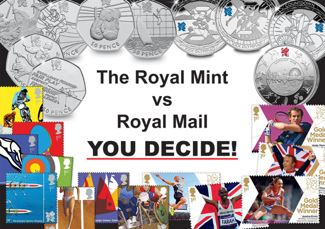 royal mint vs royal mail 4so0149m - The Great Olympic Debate – The Royal Mint or Royal Mail?  You decide…
