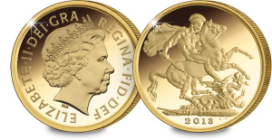 2013 gold sovereign1 - Pistrucci's iconic Sovereign design back for 2013