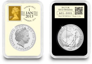 In with the new - from 1st January 2013, the 1oz Britannia is struck for the first time ever in 999/1000 silver