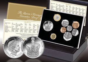 The Coronation Jubilee Executive Proof Set has the new £5 Silver Coronation Crown as its centrepiece.
