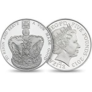 uk coronation crown3 - Just 2,013 new UK Coronation coins released today