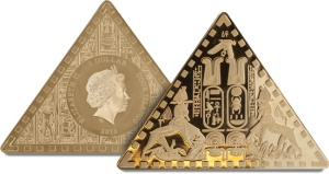 When is a coin not a coin? A beautiful 24 Carat Gold Pyramid sits at its centrepiece