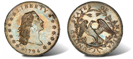 1794 flowing hair silver dollar 510x228 - US Silver Dollar becomes first ever coin to be sold for over $10m