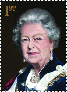 Royal Mail's first ever commissioned portrait of the Queen by Nicky Philipps