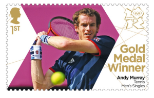 Andy Murray Gold Medal Winner Stamp