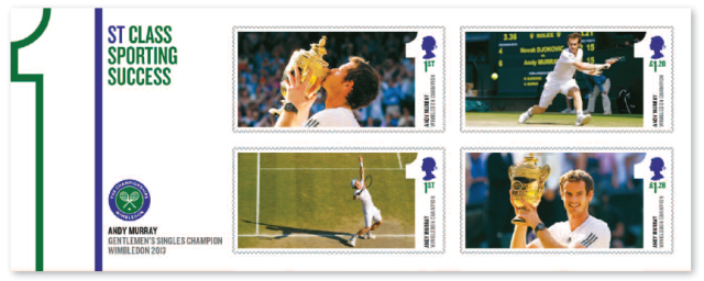 Royal Mail Andy Murray Stamps