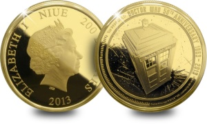 dctwho gold eff web - Doctor Who coin sells for 15 times its face value!