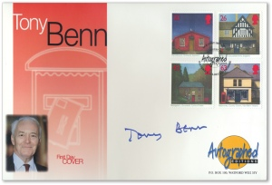 tonybenncover - Tony Benn: how the modern commemorative stamp nearly cost the Queen her head
