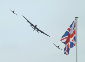 plane image - Normandy Veterans march for one last time