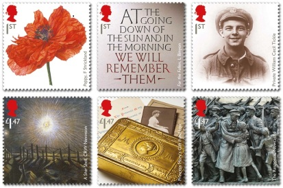 Royal Mail WWI Stamps