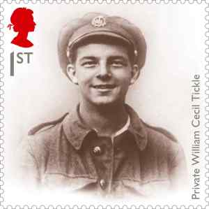 the great war 1914 private tickle stamp 400 - Why we will soon all know the story of the boy soldier on a stamp …