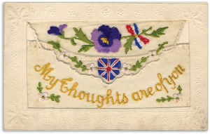 silk postcard 1 - Messages from the trenches of the First World War