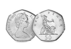 Queen Elizabth II Britannia 50p