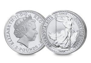 Queen Elizabeth II Silver Britannia
