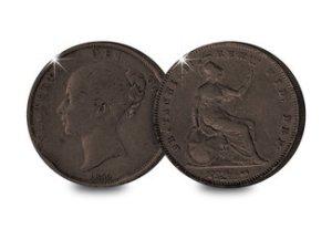 Queen Victoria Britannia Penny