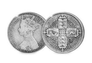 Queen Victoria Gothic Silver Florin