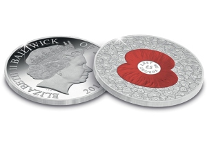 """100 Poppies"" £5 Coin issued in support of The Royal British Legion"