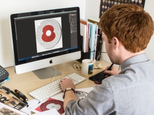chris designing poppy coin - The story behind the new '100 Poppies' coin