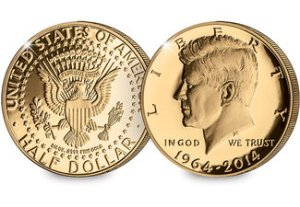 JFK Gold Half Dollar