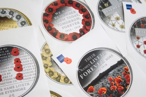 Some of Chris's ideas for the 2014 Poppy coin.