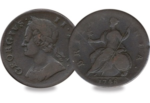 george ii halfpenny - Top 5 - Britain's Most Infamous Coins