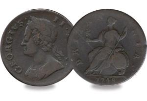 George II Halfpenny