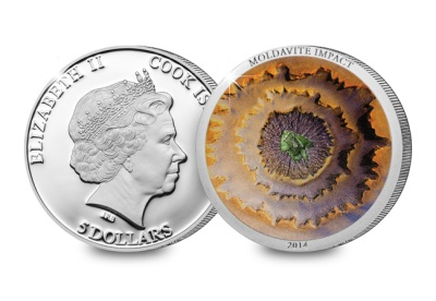 The Moldavite Meteorite Impact Coin