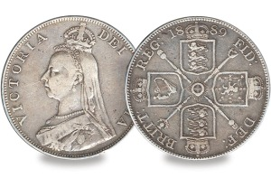 queen victoria double florin - Top 5 - Britain's Most Infamous Coins