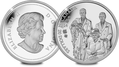 2014 Canada 2014 Royal Generations 1oz Silver Coin