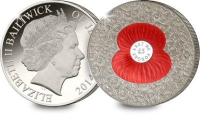 The 2014 '100' Poppies 5 Pound Coin