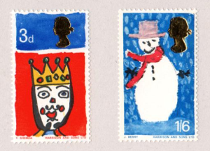 Britains First Christmas Stamps