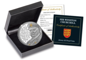 the winston churchill c2a35 proof coin boxed - The story behind the Winston Churchill £5 Coin