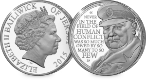 Winston Churchill Jersey £5 Coin