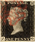 k130 - The Penny Black - the world's first and most famous stamp