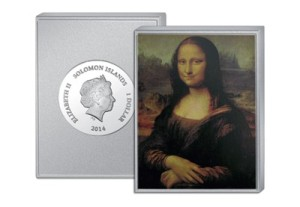 The world's most famous painting - on a silver coin bar.