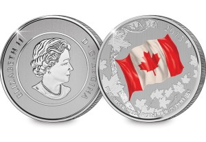 2015 $25 Fine Silver Canadian Flag Coin