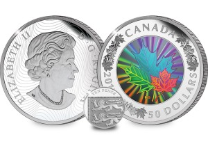 The 2015 5oz Silver Hologram Maple Leaf Coin