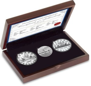 Canada 'Voyageur' 3 Coin Silver Numismatic Set