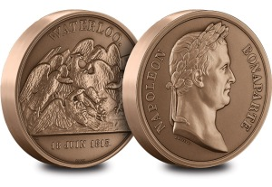 st waterloo 200th bronze medal web images - Battle of Waterloo commemorative issued… by France!