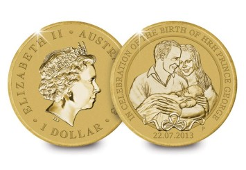 Australia 2013 $1 The Birth of HRH Prince George of Cambridge