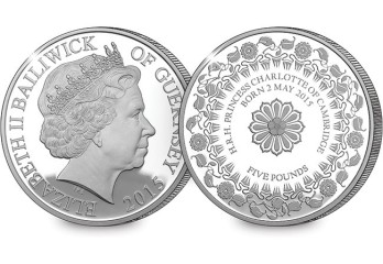Guernsey 2015 £5 HRH Princess Charlotte Silver Proof Coin