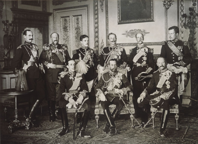 The Nine Sovereigns at Edward VII Funeral