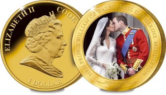Cook Islands 2011 €1 Royal Wedding Photographic Coin