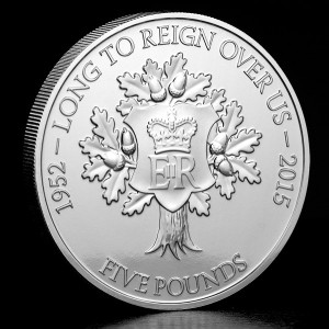 The Longest Reigning Monarch £5 Coin