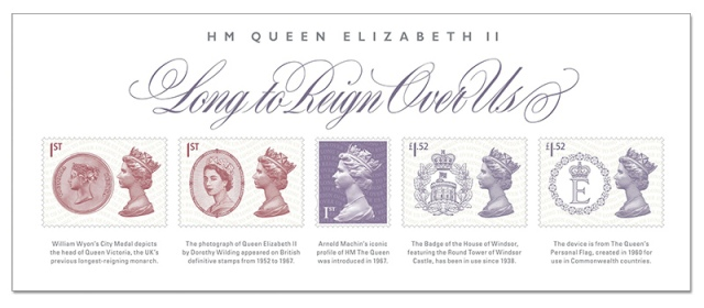 488r lrm stamps minature sheet - First Look: The UK's New Longest Reigning Monarch Stamps