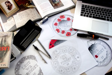 poppy coin design desk - New Poppy Coin revealed today in time for Remembrance Day 2015