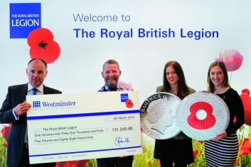 rbl cheque presentation v3 e1429186207317 - How the Poppy Coin has raised over £450,000 for The Royal British Legion