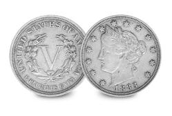 No Cents Liberty Head Nickel